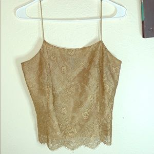 Lace Crop Top with spaghetti straps , Ann Taylor